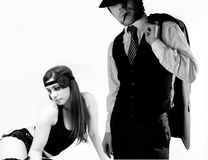Gangster couple Royalty Free Stock Photo