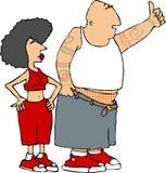 Gangster couple vector illustration