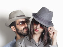 Gangster couple Stock Images