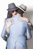 Gangster couple hugging Royalty Free Stock Image