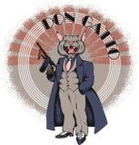 Gangster del gatto con gan stile 1930 Immagini Stock Libere da Diritti