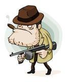 Gangster della mafia con la pistola Fotografie Stock Libere da Diritti
