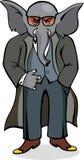 Gangster do elefante Ilustração do Vetor