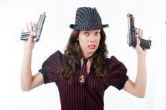Gangster för ung kvinna Fotografering för Bildbyråer