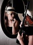 Gangster femminile fotografie stock