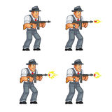 Gangster Game Sprite. Cartoon Illustration of Animation Sequence for Game Sprite Stock Image