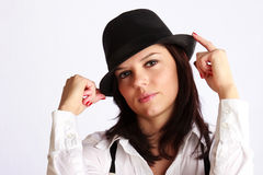 Gangster-girl portrait Stock Image