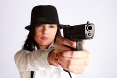 Gangster-girl portrait Royalty Free Stock Photography