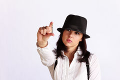 Gangster-girl portrait Royalty Free Stock Photo