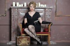 Gangster girl portrait. Stock Photography