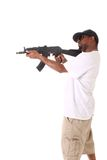 Gangster with gun Royalty Free Stock Image