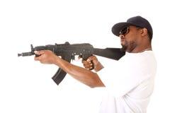 Gangster with gun Stock Photos