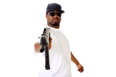 Gangster with gun Royalty Free Stock Photography