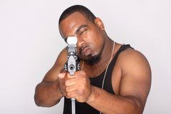 Gangster with gun Stock Photography