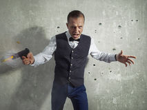 Gangster  with a gun Stock Photography