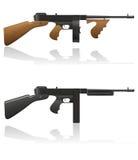 Gangster gun Thompson vector illustration Stock Photos