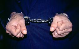 Gangster In Handcuffs Royalty Free Stock Photo