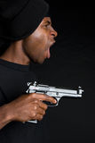 Gangster Holding Gun Stock Image