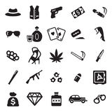 Gangster Icons Royalty Free Stock Images