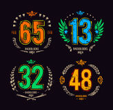 Gangster lucky numbers Royalty Free Stock Photos
