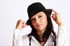 Gangster-Mädchen Portrait Stockbild