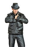 Gangster Man in black Royalty Free Stock Photos