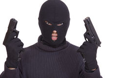 Gangster met kanonnen Royalty-vrije Stock Afbeeldingen