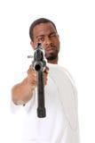Gangster mit Gewehr Lizenzfreies Stockbild