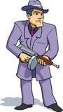 Gangster mit tommygun Lizenzfreie Stockfotos