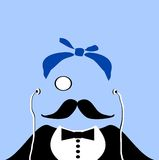 Gangster with monocle Royalty Free Stock Photo
