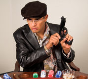 Gangster Poker Royalty Free Stock Images