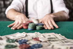 Gangster. Poker. Stock Images