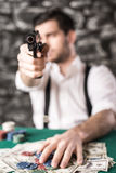 Gangster. Poker. Stock Photography