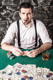 Gangster. Poker. Stock Photo