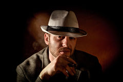 Gangster portrait Royalty Free Stock Image