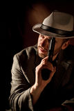Gangster portrait Stock Photography