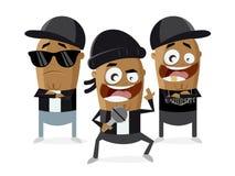 Gangster rapper clipart Stock Image
