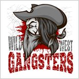 Gangster in retro scratch background Royalty Free Stock Photos