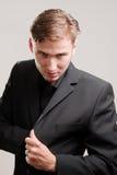 gangster in serie che estrae una pistola Immagine Stock Libera da Diritti