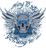 Gangster skull. Nothing to say , nothing to do , vector format cartoon Royalty Free Stock Image