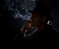 Gangster smoking Royalty Free Stock Images