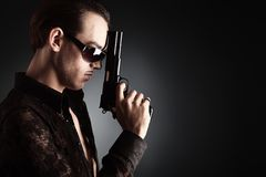Gangster style stock photo