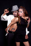Gangster Style Portrait of Asian Couple Stock Images