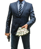 Gangster is taking money Stock Photography