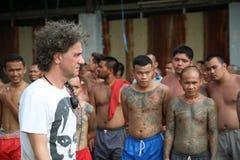 Gangster tatuato in Tailandia Immagini Stock Libere da Diritti