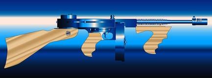 Gangster Tommy Gun Lizenzfreies Stockbild