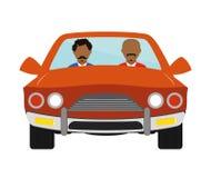 Gangster w samochodowej ikonie ilustracja wektor