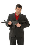 Gangster whit a m4-rifle Stock Photo