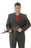 Gangster whit a m4-rifle Royalty Free Stock Photo