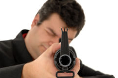 Gangster whit a m4-rifle Stock Photography